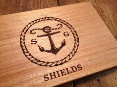 ENGRAVED CUTTING BOARD 12 X 16 Rustic Anchor by STWoodshop on Etsy, $49.00