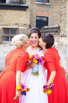 Combine polka dots and a wedding dress and you have one extremely happy pinner! Candy Anthony Polka dot wedding dress for a party style wedding in East London...