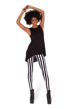 Beetlejuice Leggings › Black Milk Clothing.... http://blackmilkclothing.com/collections/leggings/products/beetlejuice-leggings