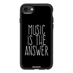 Music is the answer - iPhone 7 Case And Cover ($40) ❤ liked on Polyvore featuring accessories, tech accessories, phone cases, electronics, cases, phones, iphone case, apple iphone case, iphone cases and clear iphone case