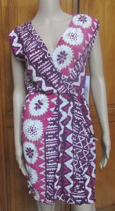 Yoana Baraschi ~ Pink Tribal Printed Faux Wrap Versatile  NWT Sz 0 2 4 6 8 10 12 #YoanaBaraschi #FauxWrapDress