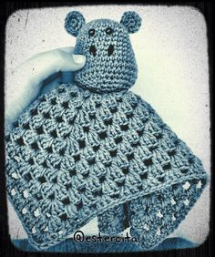 Crocheted doudou with amigurumi head