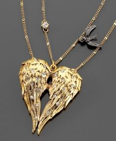 Betsey Johnson Wings Necklace