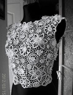 Blusa de encaje vestido top de ganchillo irlandés por LaimInga