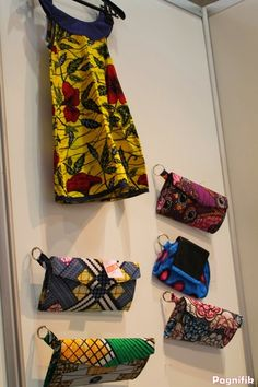 African print fabric bags and dress