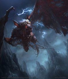 Ruubgaal Picture  (2d, illustration, creature, bat, fantasy)