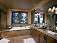 brown Bathroom Decor 25 Ideas To Remodel Your Craftsman Bathroom Master Bathroom Vanity, Double Sink Bathroom, Master Bathrooms, Small Bathroom, Luxury Bathrooms, Bathroom Floor Plans, Bathroom Flooring, Brown Bathroom Decor, Bathroom Ideas