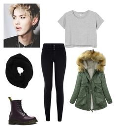 """""""kris"""" by kpop200 on Polyvore featuring Monki, Dr. Martens and Wyatt"""