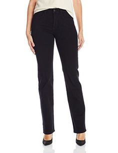 2cf08ec4f2 NYDJ Womens Marilyn Straight Jeans Black 10  gt  gt  gt  BEST VALUE BUY.  Jeans StorePetite PantsFashion ...