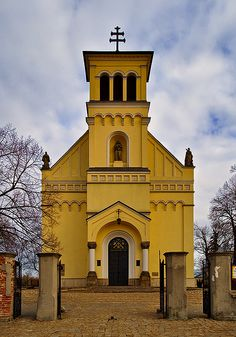 Warsaw, Poland ~ Church of the Virgin Mary in the parish of St. Catherine. It was in Sluzew that the Benedictines from Mogilno near Kruszwica set up their mission in 1065. In 1238 a parish and St. Catherine's church were set up in Sluzew. They exist to this day and are amongst Warsaw's oldest monuments.