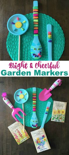 Have the kids make bright & cheerful accessories for your garden and potted plants with this fun tutorial on the Melissa & Doug blog *So cute