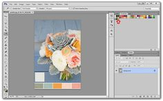Using the Swatches Panel in Photoshop to Save Colors.