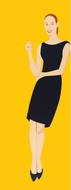 ALEX KATZ - BLACK DRESS (ULLA) http://www.widewalls.ch/artist/alex-katz/ #print