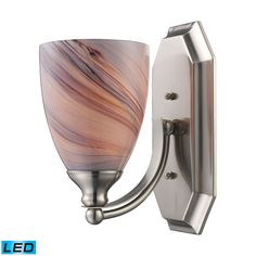 ELK Lighting 570-1N-CR-LED Bath And Spa Collection Satin Nickel Finish