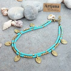 FREE SHIPPING Turquoise Ankle Bracelet Turquoise Anklet