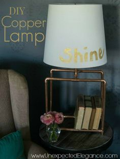 DIY Copper Lamp with step by step instructions and pictures!! #LEDSavings #shop