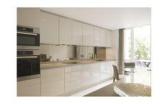 Ebury Street kitchen - pebble grey gloss with Unsui Silestone