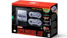 Nintendo has announced a retro version of the Super Nintendo Entertainment System (SNES). The Super NES Classic edition comes with 21 built-in games and two controllers. The Super Nintendo Entertainment System: Super NES Classic Edition will be. Super Mario Rpg, Super Mario World 2, Super Mario Kart, Nintendo Switch, Nintendo 3ds, Nintendo Super Nes, Star Fox, Donkey Kong, Xbox One