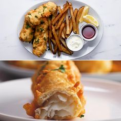 Fish And Chips Recipe by Tasty Fish Recipes, Seafood Recipes, Gourmet Recipes, Dinner Recipes, Cooking Recipes, Cooking Videos, Food Videos, Fish Dishes, Seafood Dishes