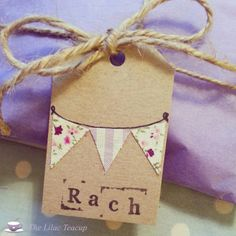 Bunting gift tag from The Lilac Teacup