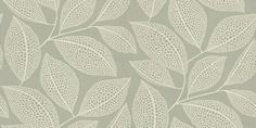 PEBBLE LEAF (MISP1040) - MissPrint Wallpapers - A large leaf trail with pebbled detail in warm cream on a stoney grey background.  Four alternative colours available.  Please request a sample for true colour match and effect.