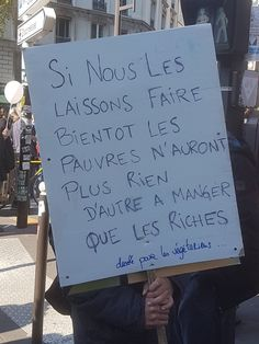 LA RUE OU RIEN If we let this happen, soon the poor will have nothing to eat but the rich Graffiti Quotes, Inspirational Speeches, Protest Signs, Quote Citation, Openness, French Quotes, Worlds Of Fun, Words Quotes, Cool Words