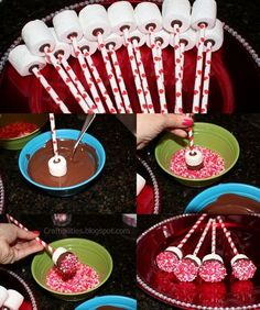 A step by step guide to achieve the most perfect vanilla cake pops. Better than starbucks' birthday cake pops. The best foolproof cake pop recipe ever. Christmas Sprinkles, Christmas Cake Pops, Christmas Desserts, Christmas Treats, Holiday Treats, Christmas Cards, Diy Christmas, Marshmallow Dip, Chocolate Dipped Marshmallows