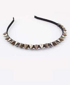 Punk Headband with Cone Spikes Throughout