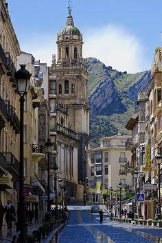 Calle de Bernabé Soriano in Jaén, Spain