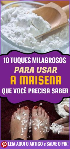 Hoje vamos revelar vários truques com maisena que podem ser muito bons em nosso dia a dia. #dicas #truques #receitas #caseiro #beleza #cuidados #faceis #fazeremcasa #comofazer #maisena #pes #trata #previne #elimina #remove #chule #odores Vida Natural, Salud Natural, Belleza Natural, Hacks, How To Make, Food, Homemade Beauty Tips, Herbalism, Beauty Box