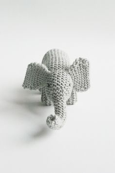 Flynn Burgess knitted toy MY FRIEND ELEPHANT / eco kids. Small Elephant, Elephant Love, Baby Toys, Kids Toys, Crochet Toys, Knit Crochet, Knitting Projects, Knitting Patterns, Eco Kids