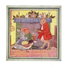 Little Grey Rabbit's Christmas - Margaret Tempest Illustration.