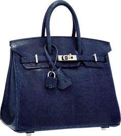 ace6860a52b7 Luxury Accessories:Bags, Hermes Blue de Malte Nilo Lizard Birkin Bag with  PalladiumHardware. O Square, Excellent to PristineCondit.