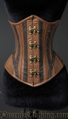 Steampunk Clasp Corset Inverse #corset #underbust #steampunk http://draculaclothing.com/index.php/steampunk-clasp-corset-inverse.html