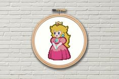 299ed5eba This Paper Mario Princess Peach Cross Stitch Pattern Video Games is just  one of the custom
