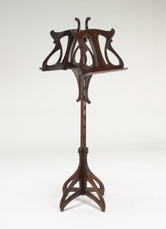 VMFA Macassar Ebony Lectern by Eugene Gaillard Art Nouveau Furniture, Pet Furniture, Victorian Art, French Art, Art And Architecture, Music Stand, Craftsman, Modern Design, Nice Things