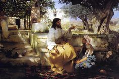 Jesus Christ at Martha and Maria's by Henrich Semiradsky