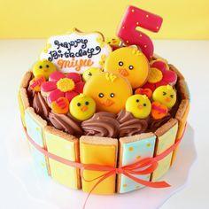 "Sweeten your day.: ひよこのお誕生日ケーキ "" Chick Birthday cake! """