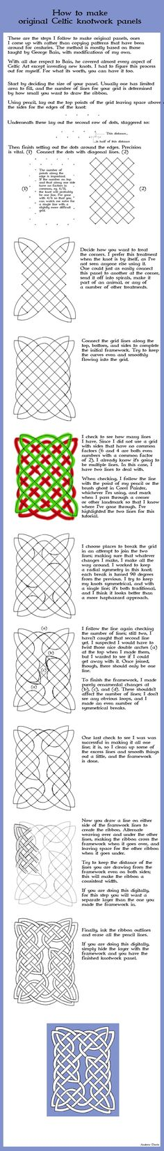 "celtic knotwork & design ""tutorial 2"" : beautifully laid out resource {Andrew Davis / Dweran, deviantART}"