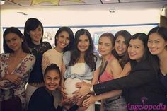 Filipina Beauty Queens Unite at Shamcey Supsup's Baby Shower
