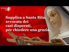 🌟Preghiere🌟 - YouTube St Rita Of Cascia, Spiritual Thoughts, Revenge, Catholic, Faith, Youtube, Words, Mother Teresa, Holy Rosary