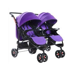 SOGAR Detachable Folded Double Baby Stroller Triplets Multiple Children's…