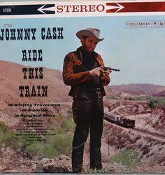 Johnny Cash  Ride This Train 1960  LP Album Vinyl Record