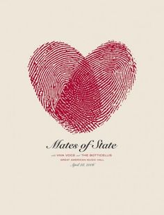 Mates of state gig poster