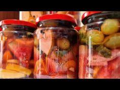 Murături asortate cu fructe aromate - cu gust savuros, dulce acrișor - tutorial pas cu pas - YouTube Pickles, Cucumber, Salsa, Mason Jars, Cooking, Youtube, Food, Canning, Kitchen