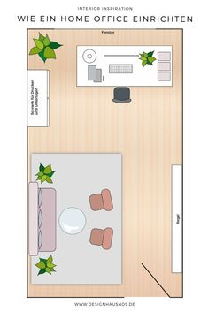 Top or flop? Here is a timetable for your home office. Office Floor, Office Set, Office Admin, Private Room, Home Interior, Exterior Design, Planer, Blog, Sweet Home