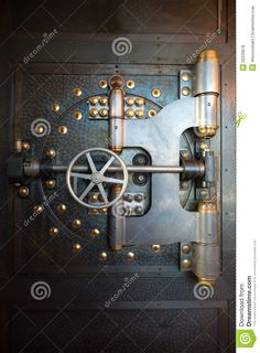 Vintage Bank Vault Door Safe Stock Photo - Image of door, vault: 50233678 Steampunk Background, Antique Safe, Bank Safe, Safe Door, Safe Vault, Gun Vault, Vault Doors, Gun Rooms
