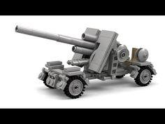Lego WWII Mobile Flak 88 Instructions - YouTube