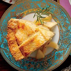 Pear-Rosemary Pie with Cheddar Crust | Cheddar cheese gives this crust a unique, out-of-this-world flakiness. | SouthernLiving.com