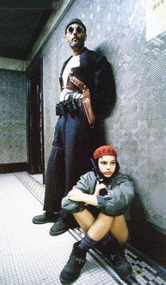 """Jean Reno  und Natalie Portman in """"Léon - Der Profi"""", ein Film aus den 90er Jahren. Unnützes Wissen über Filme"""